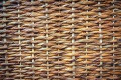 Texture en osier tissée Photographie stock