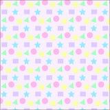 Texture en pastel colorée de fond de modèle de forme de la géométrie Photographie stock