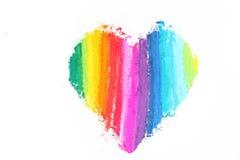 Texture en pastel de bâtons de coeur coloré Photos libres de droits