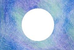 Texture en pastel de fond de crayon de couleur bleue et pourpre avec le cercle blanc pour l'espace de copie photographie stock