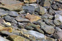 Texture en pierre de bord de la mer Photographie stock libre de droits