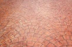 Texture en pierre de plancher de trottoir de bloc Photographie stock libre de droits
