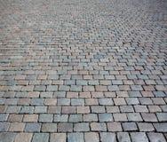 Texture en pierre de rue de pavé Images libres de droits