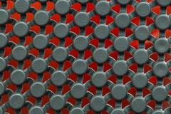 Texture en plastique avec le fond rouge Image libre de droits