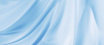 Texture en soie bleue image libre de droits