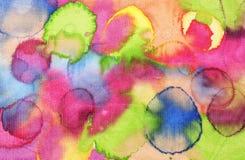 Texture en soie colorée Image libre de droits