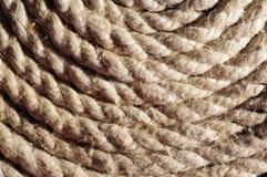 Texture en spirale de corde Photos libres de droits