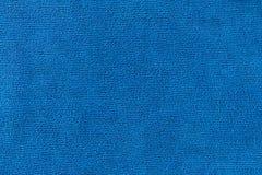 Texture en textile bleu de Microfiber photos libres de droits