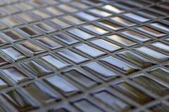 Texture en verre carrée Images stock
