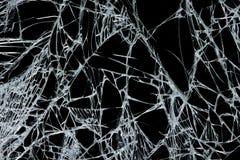 Texture en verre cassée Images stock
