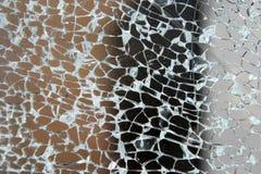 Texture en verre cassée Image libre de droits