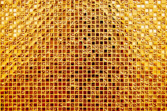 Texture en verre d'or de fond de modèle Images libres de droits