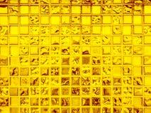 Texture en verre d'or de fond de modèle Images stock