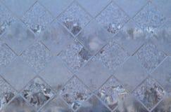 Texture en verre des hublots Photographie stock libre de droits