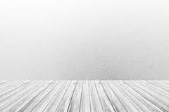 Texture en verre givré, processus dans la couleur blanche avec la terrasse en bois Photos stock