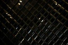 Texture en verre réfléchissante et fond d'abrégé sur diamant de losange de noir foncé Images stock