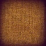 Texture encadrée grenue de tissu brun de tissu avec l'espace pour le texte Photos stock