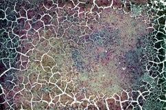 Texture endommagée criquée grunge de film couleurs Photographie stock libre de droits