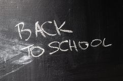 Erased chalk board Royalty Free Stock Photo