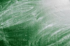 Erased chalk board. Texture of erased green chalk board Royalty Free Stock Images