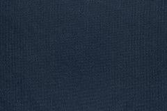 Texture et fond de couleur bleu-foncé de tissu Photos libres de droits