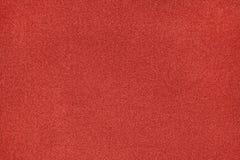 Texture et fond de fibre métallisés par rouge Photos stock