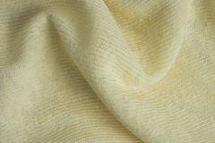 Texture et fond de tissu jaune de coton et de kapok Images stock