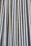 Texture et fond en acier de tige Images libres de droits