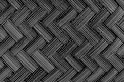 Texture et fond en bambou noirs et blancs Images libres de droits
