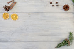 Texture et fond en bois de conseil peints par blanc Image libre de droits