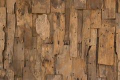 Texture et fond en bois de vintage de mur de vieille lamelle photo stock
