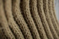 Texture et fond tricotés de tissu Texture de tissu tricotée par vert Image stock