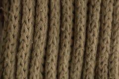 Texture et fond tricotés de tissu Texture de tissu tricotée par vert Images libres de droits