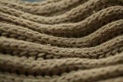 Texture et fond tricotés de tissu Texture de tissu tricotée par vert Photo stock