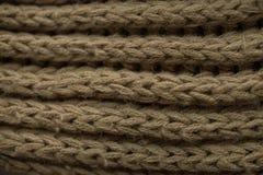 Texture et fond tricotés de tissu Texture de tissu tricotée par vert Images stock