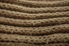 Texture et fond tricotés de tissu Texture de tissu tricotée par vert Image libre de droits