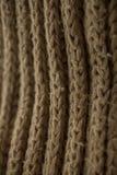 Texture et fond tricotés de tissu Texture de tissu tricotée par vert Photos libres de droits