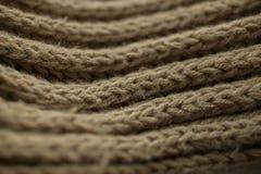 Texture et fond tricotés de tissu Texture de tissu tricotée par vert Photos stock
