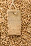 Texture et prix à payer de blé Photo stock