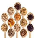 Texture et produits céréaliers Photo libre de droits