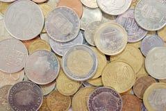 Texture européenne de pièces de monnaie Image stock