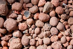 Texture of expanded clay, expanded clay Royalty Free Stock Image