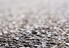 Texture of the exposed aggregate finish flooring. Non slip Stock Photography