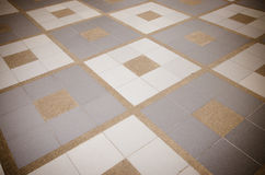 Texture of exposed cement floor tiled. Stock Photo