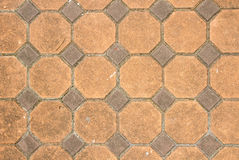 Texture of exposed cement floor tiled Stock Photography