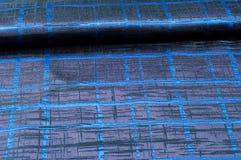 Texture, fabric, background. Woolen cloth. Dark blue stripes. Bl. Ack Stripes Stock Photo