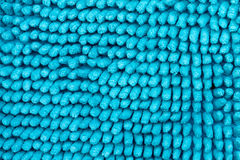 The texture of the fabric. Bright blue texture, the basis is the deep-piled carpet close-up Stock Photography