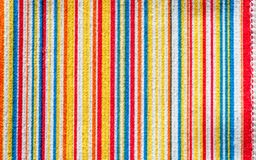 Texture of fabric with colorful pattern vertical line. Microfiber Royalty Free Stock Photos