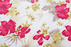 Texture of fabric in flowers pattern Stock Photos