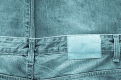 Texture fabric of jeans clothes indigo color Stock Images